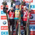 Podio Hochfilzen biathlon Karin Oberhofer