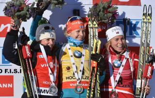 Secondo posto Karin Oberhofer Hochfilzen biathlon